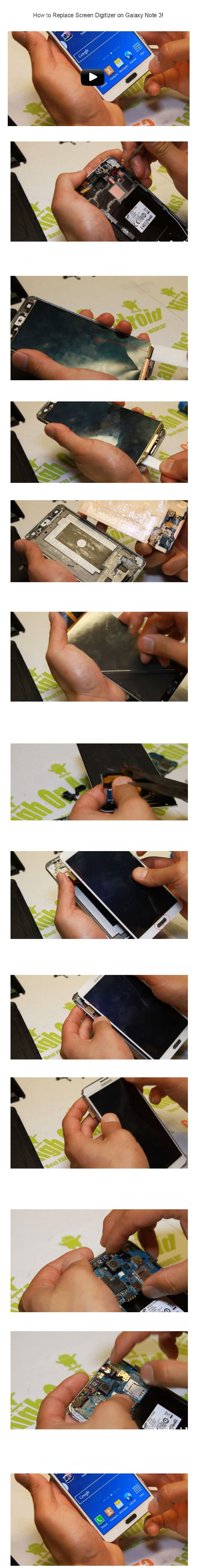 How to Replace Screen Digitizer on Galaxy Note 3