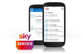 sky service page guide