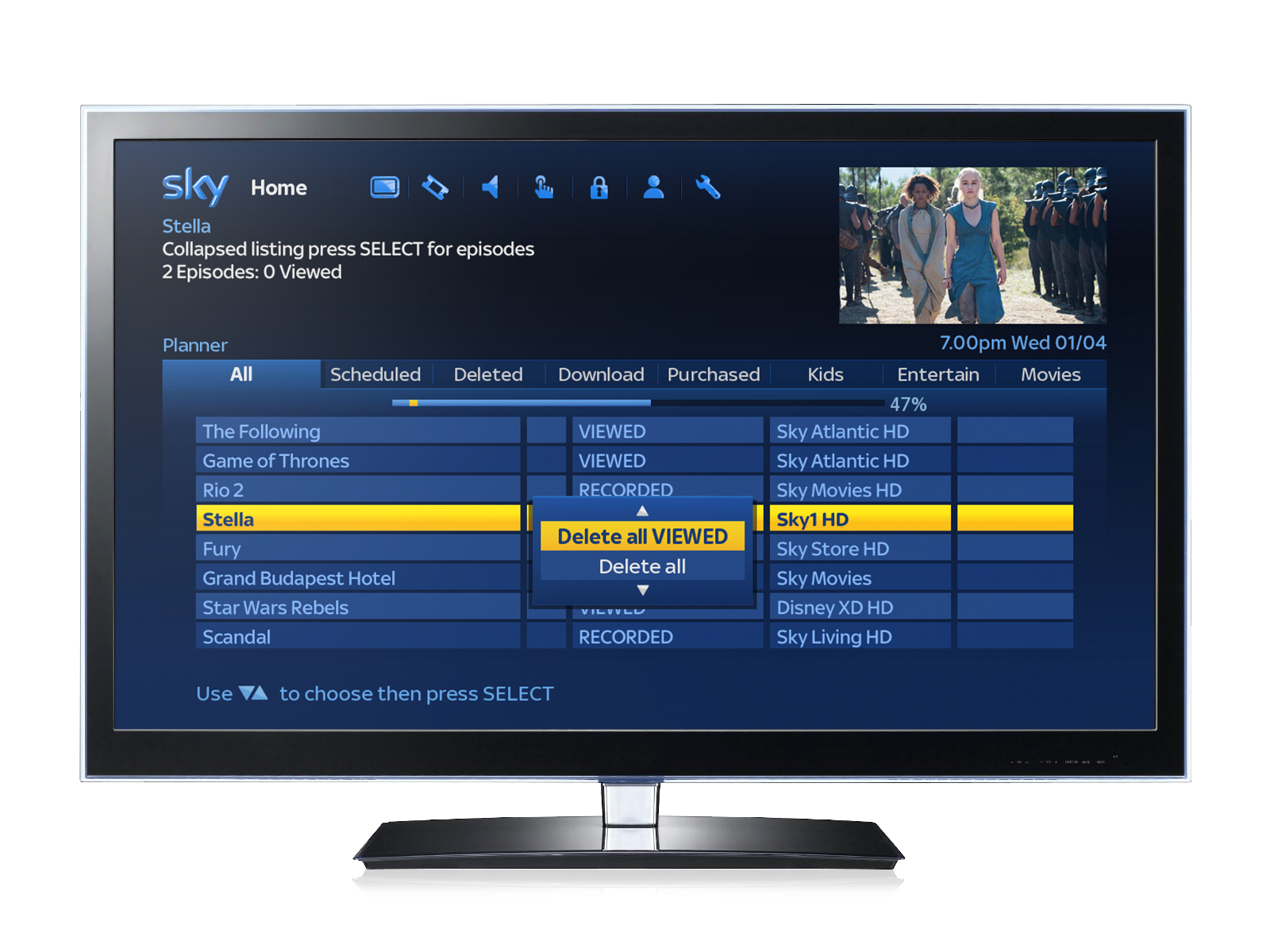 sky watch tv what to watch
